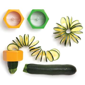 Monkey Business - Cucumbo Gemüseschneider - mit Gemüse