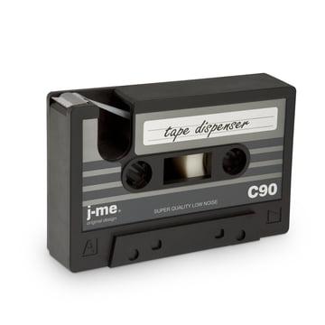 j-me - cassette tape Klebeband-Abroller, schwarz