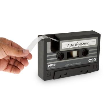j-me - cassette tape Klebeband-Abroller, schwarz - beim Abreißen
