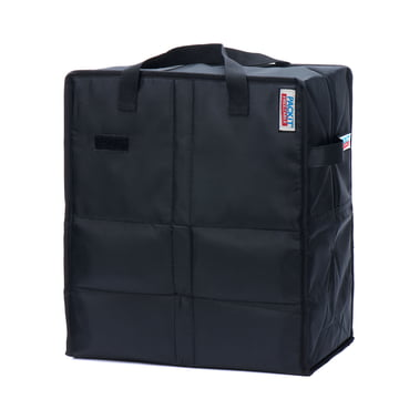 PackIt - Einkaufs-Kühltasche, schwarz - schräg
