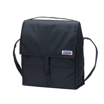 PackIt - Picknick-Kühltasche, schwarz - schräg