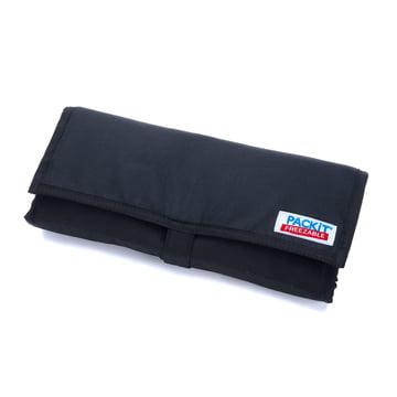 PackIt - Picknick-Kühltasche, schwarz - gefaltet