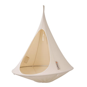 Cacoon - Single Hängesessel, natural white