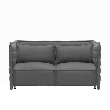 Vitra - Alcove Plume Sofa, 2-Sitzer ohne Kissen, dunkelgrau
