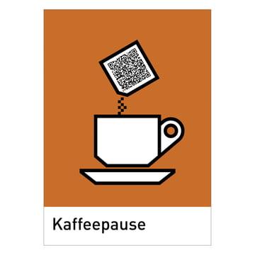 siebensachen - QReetings Postkarten-Set, Kaffeepause