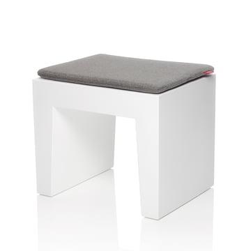 Fatboy - Concrete Seat, weiß, Kissen graphit-grau