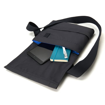 Moleskine - Schultertasche, klein, geöffnet, liegend