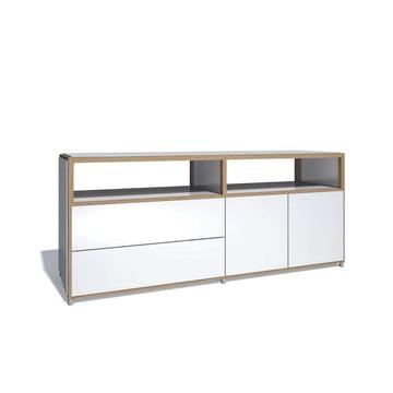 Flötotto - ADD Sideboard, 2 Türen, 2 Schubladen, Melamin weiß