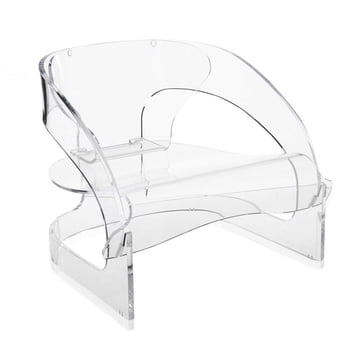 Kartell - Joe Colombo Sessel, transparent - schräg
