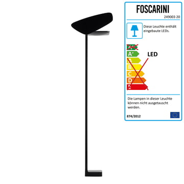 Foscarini - Lightwing LED Stehleuchte, schwarz
