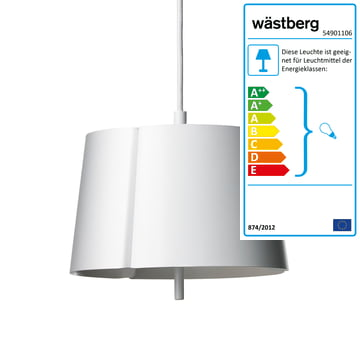 Wästberg - Lindvall Pendelleuchte w124s2, weiß