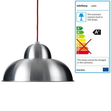 Wästberg - Studioilse Pendelleuchte w084s, rotes Kabel