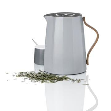 Die Stelton - Emma Teeisolierkanne 1 l, grau und Zuckerschale