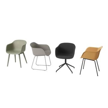 Fiber Chair von Muuto mit verschiedenen Gestellen