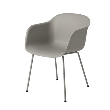 Fiber Chair Tube Base von Muuto in Grau