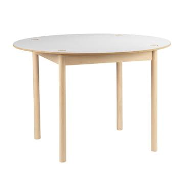 Hay - C44 Tisch, Ø 110 cm, Buche geseift, weiß