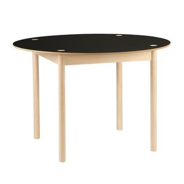 Hay - C44 Tisch, Ø 110 cm, Buche geseift, schwarz