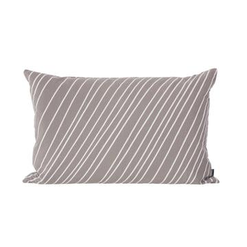 Striped Kissen von ferm Living in Grau und Weiß