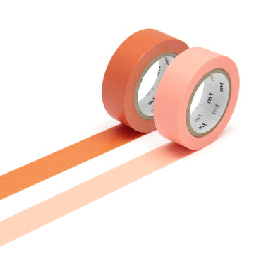 Deko-Klebebänder 2P basic color von Masking tape (2er-Set)