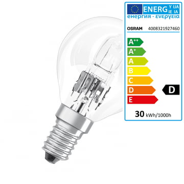 Osram - Tropfen Halogen-Lampe Classic P Eco E14
