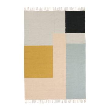 ferm living - Kelim Rug Teppich, squares, groß