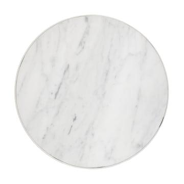 ferm living - Marble Marmor Tisch, medium, weiß