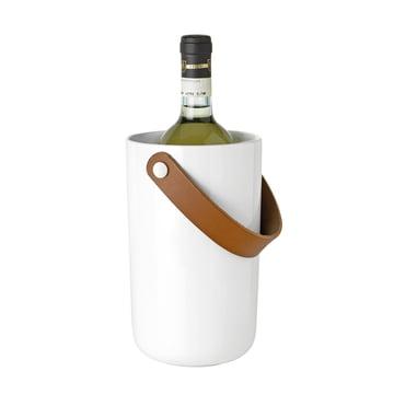 Stelton - Glacier Weinkühler, weiß, mit Flasche