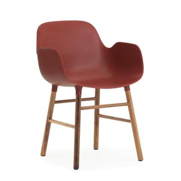 Form Armchair von Normann Copenhagen aus Walnuss in Rot