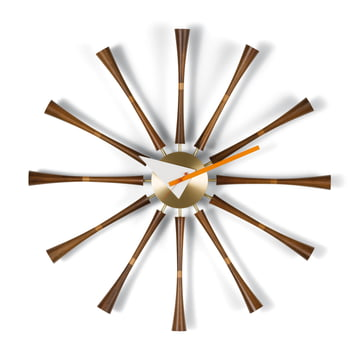 Vitra - Spindle Clock, Aluminium / Walnuss