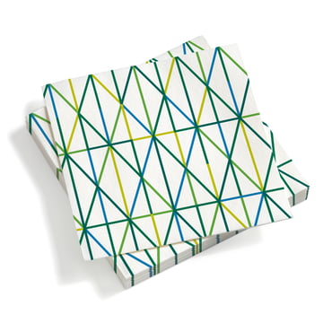 Paper Napkins large Grid Green 40 x 40 von Vitra