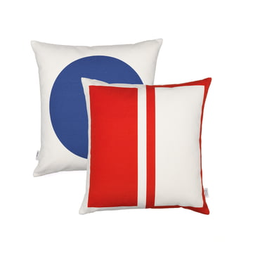 Graphic Print Pillow Rectangles / Circle 40 x 40 cm von Vitra in Blau / Rot