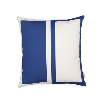 Graphic Print Pillow Rectangles / Circle 40 x 40 cm von Vitra in Blau