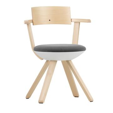 Artek - KG 002 Rival Stuhl hoch Birke, weiß, schwarz / weiß