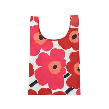 Marimekko - Pieni Unikko Einkaufstasche, weiß / rot
