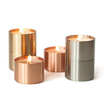 ArchitectMade - Trepas Six Teelichthalter, Kupfer / Messing / Stahl