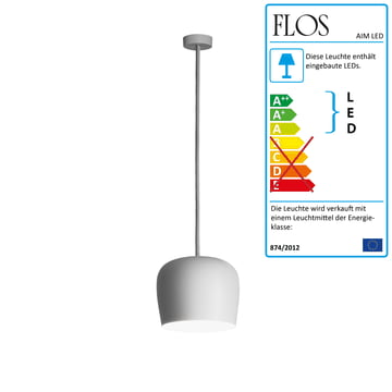 Flos - AIM Small LED-Pendelleuchte Fix, weiß