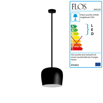 Flos - AIM Small LED-Pendelleuchte Fix, schwarz
