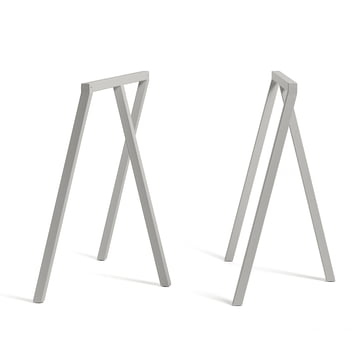 Hay - Loop Tischböcke Stand Frame, grau (2 Stück)