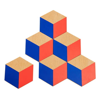 Areaware - Untersetzer, rot / blau (6er-Set)