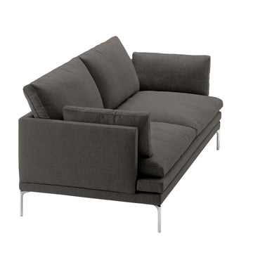 Zanotta - William Sofa, 180 cm, Vasco (Kat. 20), dunkelgrau (25805)