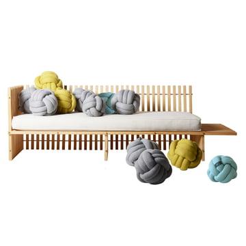 OK Design - Chango Kissen, jade, grau, mustard