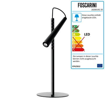 Foscarini - Magneto LED-Tischleuchte, schwarz