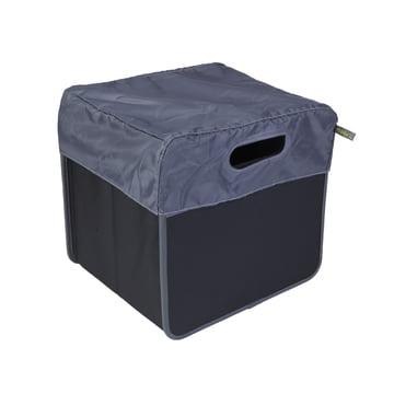 meori - Haube 15 Liter, grau / Klassiker Faltbox 15 Liter, Lava schwarz uni