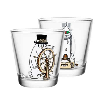Iittala - Mumin Trinkglas 21 cl, Moominpappa at the helm