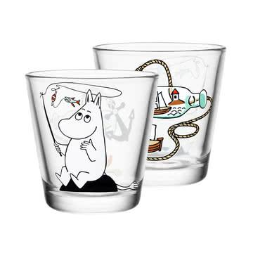 Iittala - Mumin Trinkglas 21 cl, Moomin Troll fishing
