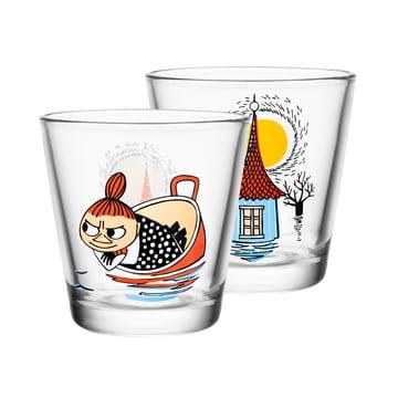 Iittala - Mumin Trinkglas 21 cl, Little My floating