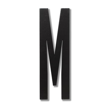 Wooden Letters Indoor M von Design Letters in Schwarz