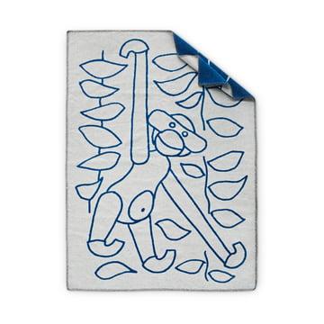 Rückseite der Kinderdecke von Kay Bojesen in blau