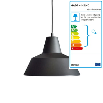 Made by Hand - Workshop Lamp W3 in anthrazitschwarz