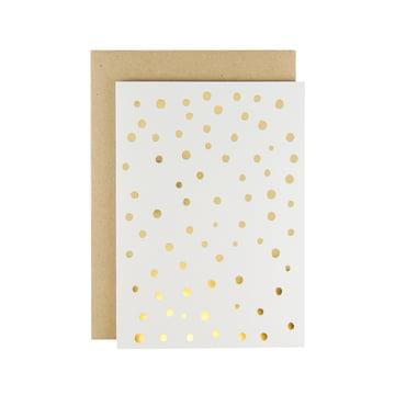 Karte - Adrift Grußkarte in Gold